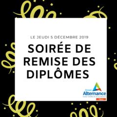Soirée de remise des diplômes Groupe Alternance Mâcon 2019