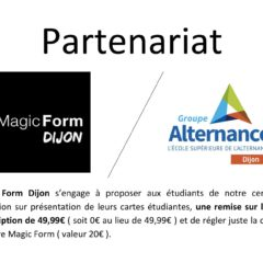 Partenariat Magic Form Dijon Groupe Alternance Etudiant Sport Fitness